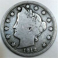 1912 S LIBERTY V NICKEL BEAUTIFUL COIN RARE DATE