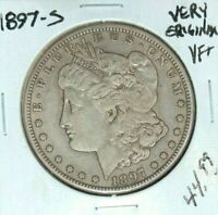 1897-S MORGAN SILVER DOLLAR  VF  ORIG  COIN