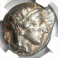 ATTICA ATHENS TETRADRACHM COIN 440-404 BC NGC VF  F/S FROM JP W/TRACKING 9110N
