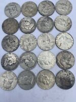 90  SILVER COINS $10 FACE   VALUE FRANKLIN HALF DOLLARS IN G
