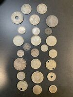 SILVER JUNK COINS   SELLING OLD WORLD SILVER ESTIMATE 1.7  T