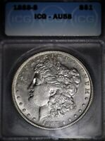 1888-S MORGAN SILVER DOLLAR, ICG AU58. TOUGH DATE, LOW ,LOW MINTAGE, ISSUE FREE