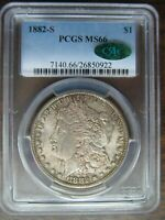 1882-S MORGAN SILVER DOLLAR  PCGS MINT STATE 66   CAC CERTIFIED