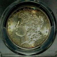 1881-S MORGAN SILVER DOLLAR - PCGS MINT STATE 65 BEAUTFUL COIN REF3599