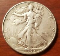 1946 P WALKING LIBERTY HALF DOLLAR SILVER COIN 50 CENTS ABOUT UNCIRCULATED XF EF