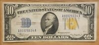 1934 A NORTH AFRICA $10 SILVER CERTIFICATE WWII WW2 FR 2309 EXTRA FINE EF XF