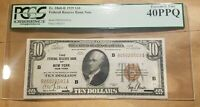 1929 $10 FEDERAL RESERVE BANK NOTE NEW YORK FRBN FR 1860 B PCGS EXTRA FINE 40 EF