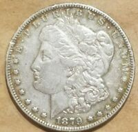 1879 P MORGAN SILVER DOLLAR LIBERTY HEAD $1 COIN AMERICAN ABOUT UNCIRCULATED AU