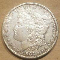 1882 S MORGAN DOLLAR SILVER $1 COIN AMERICAN EAGLE REVERSE ABOUT UNCIRCULATED AU