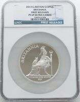 2013 BRITANNIA 10 TEN POUND SILVER PROOF 5OZ COIN NGC PF69 UC FIRST RELEASES