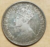 1857 UNITED KINGDOM FLORIN SILVER COIN QUEEN VICTORIA GREAT BRITAIN UK NICE