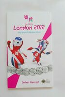 2012 OFFICIAL LONDON OLYMPIC 50P FOLDER ALBUM SPORT   NO COI