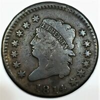1814 CLASSIC HEAD LARGE CENT BEAUTIFUL COIN RARE DATE