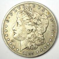 1895-O MORGAN SILVER DOLLAR $1 - CHOICE VF DETAILS -  DATE COIN