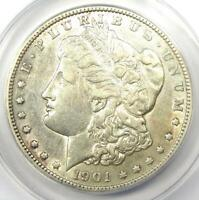 1901-S MORGAN SILVER DOLLAR $1 COIN - CERTIFIED ANACS EXTRA FINE 45 DETAILS EF45