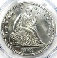 1871 SEATED LIBERTY SILVER DOLLAR $1 - PCGS AU DETAILS -  EARLY COIN
