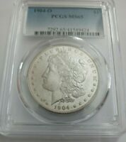 1904-O   MORGAN DOLLAR PCGS GRADED MINT STATE 65GREAT LOOKING COIN