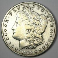 1895-S MORGAN SILVER DOLLAR $1 - VF DETAILS CLEANED -  DATE COIN