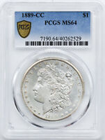 1889-CC MORGAN S$1 PCGS MINT STATE 64