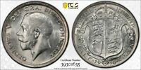 GREAT BRITAIN MS 61 1916 1/2 CROWN IN PCGS HOLDER