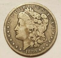 1880 P MORGAN DOLLAR SILVER $1 COIN AMERICAN EAGLE REVERSE 1 DOLLAR