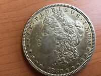 COLLECTIBLE 1880-P MORGAN SILVER DOLLAR - EXTRA FINE  -  COIN-SEE PICTURES