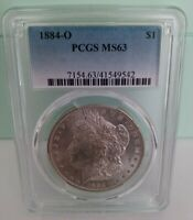 1884-O MORGAN DOLLAR PCGS GRADED MINT STATE 63