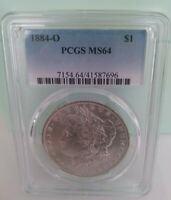 1884-O MORGAN DOLLAR - PCGS GRADED MINT STATE 64