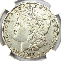 1893-O MORGAN SILVER DOLLAR $1 - NGC EXTRA FINE  DETAILS EF -  DATE COIN