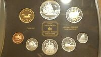 1999 CANADA PROOF SET 8 COINS CANADIAN CENT TO TOONIE INCLUDING SILVER DOLLAR