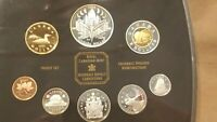 2000 CANADA PROOF SET 8 COINS CANADIAN CENT TO TOONIE INCLUDING SILVER DOLLAR