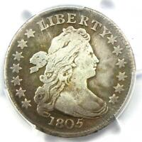 1805 DRAPED BUST DIME 10C - CERTIFIED PCGS VF DETAILS -  DATE COIN
