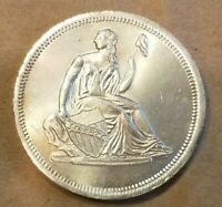 SEATED LIBERTY DOLLAR DESIGN 1 TROY OUNCE SILVER ROUND .999 UNC 1 OZ. COIN NICE