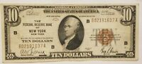 1929 $10 FEDERAL RESERVE BANK NOTE NEW YORK FRBN NATIONAL FR 1860 B NICE