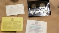 1973 BRITISH VIRGIN ISLANDS 6 COIN PROOF SET SILVER $1 AND 50 CENT TO 1 CENT