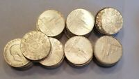 LOT OF 74 AUSTRIAN 25 SCHILLING SILVER COINS DATED 1957 AND 1958 24.74 OZ ASW