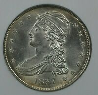 1837 CAPPED BUST 50C NGC MINT STATE 64