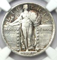 1921 STANDING LIBERTY QUARTER 25C - NGC EXTRA FINE  DETAILS EF -  CERTIFIED COIN