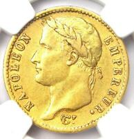 1811 A FRANCE NAPOLEON GOLD 20 FRANCS COIN G20F   CERTIFIED NGC AU50