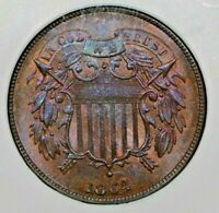 1864 2C LARGE MOTTO NGC MINT STATE 65 RB