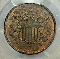1864 2C SMALL MOTTO PCGS MINT STATE 65 RB