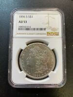 1896 S MORGAN DOLLAR NGC AU-53 - KEY DATE - ABOUT UNCIRCULATED - CERTIFIED - $1