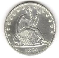 1860 SEATED LIBERTY HALF DOLLAR PROOF ISSUE. VERY SCARCE DAT
