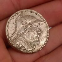 UNRESEARCHED ANCIENT GREEK AR SILVER TETRADRACHM COIN 21.3 G