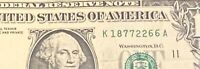 US FANCY SERIAL NUMBER 1 DOLLAR BILL REPEATER NOTE