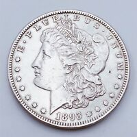 1893 S LY  DATE  KING OF MORGAN SILVER DOLLAR $1 COIN US A17