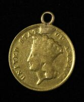 NO DATE $3 INDIAN PRINCESS THREE DOLLAR GOLD PIECE NECKLACE READY   FREE SHIP US
