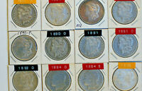 MORGAN DOLLARS, CHOSE 4 FROM 16 DIFFERENT DATE/MM:, 1883-1897