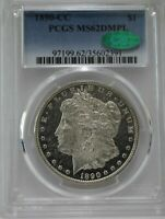 1890-CC $1 MORGAN PCGS MINT STATE 62DMPL CAC APPROVED  WHITE MIRROR