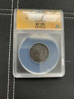 1804 HALF CENT C 1 CROSSLET 4 WITH STEMS CLEANED VF25 ANACS